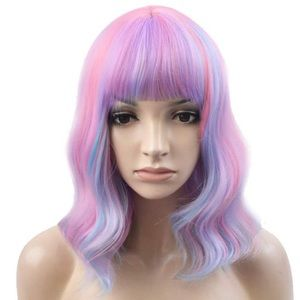 "🌸ILLIANA  14"" PINK  CANDY 🍬OMBRÉ  BANG WIG *NWT*"
